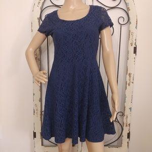 Allison Brittney blue lace dress